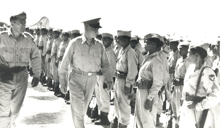 General Eisenhower and Philippine Scouts