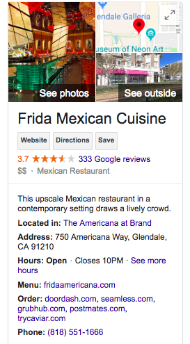 Happy Hour at Frida Mexican Cuisine at The Americana