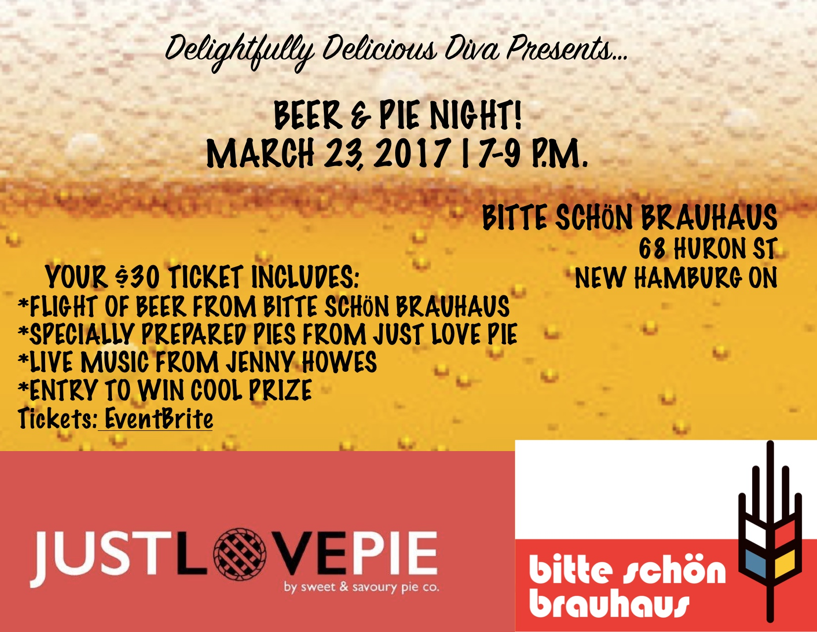 Beer and pie info
