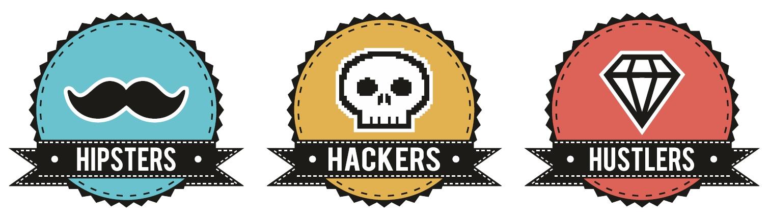 Hipsters, Hackers & Hustlers logo