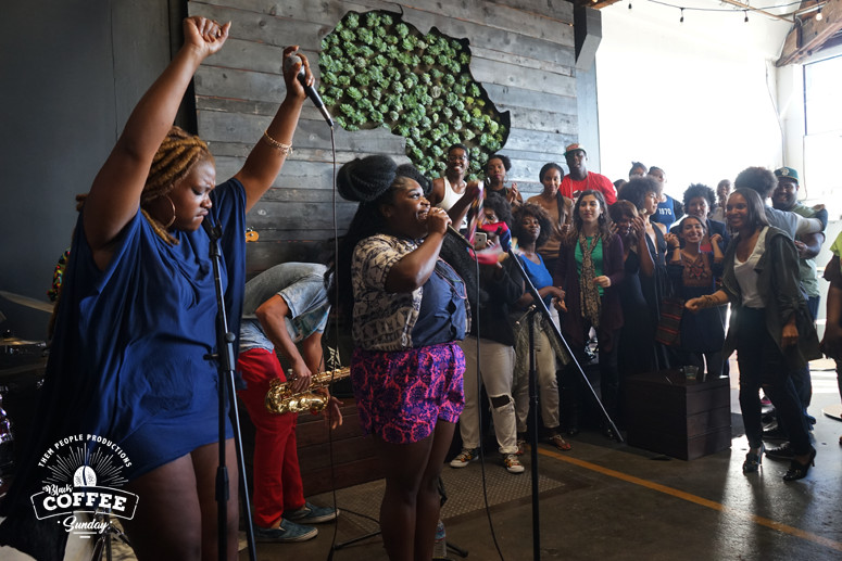 Tank and the Bangas at Black Coffee Sunday in Oakland
