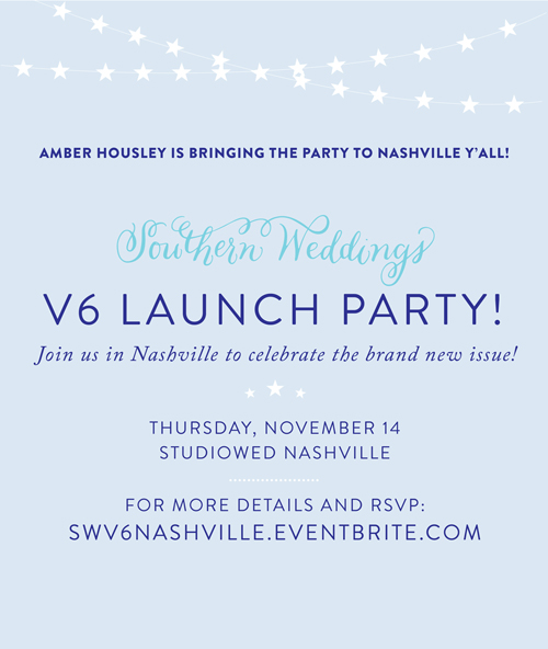 Southern Weddings V6 Satellite Launch Party hosted by Amber Housley