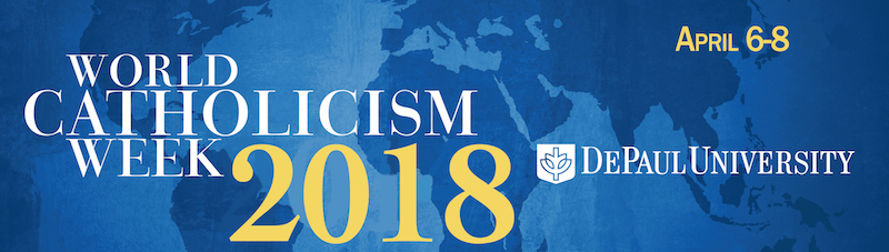 Logo/header for World Catholicism Week 2018