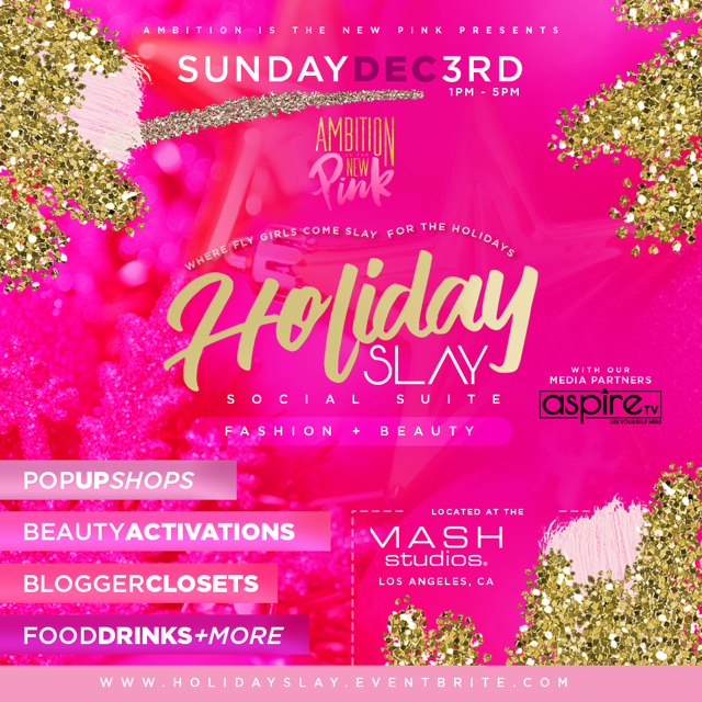 Holiday SLAY Social Suite Ambition Is The New Pink x Aspire TV