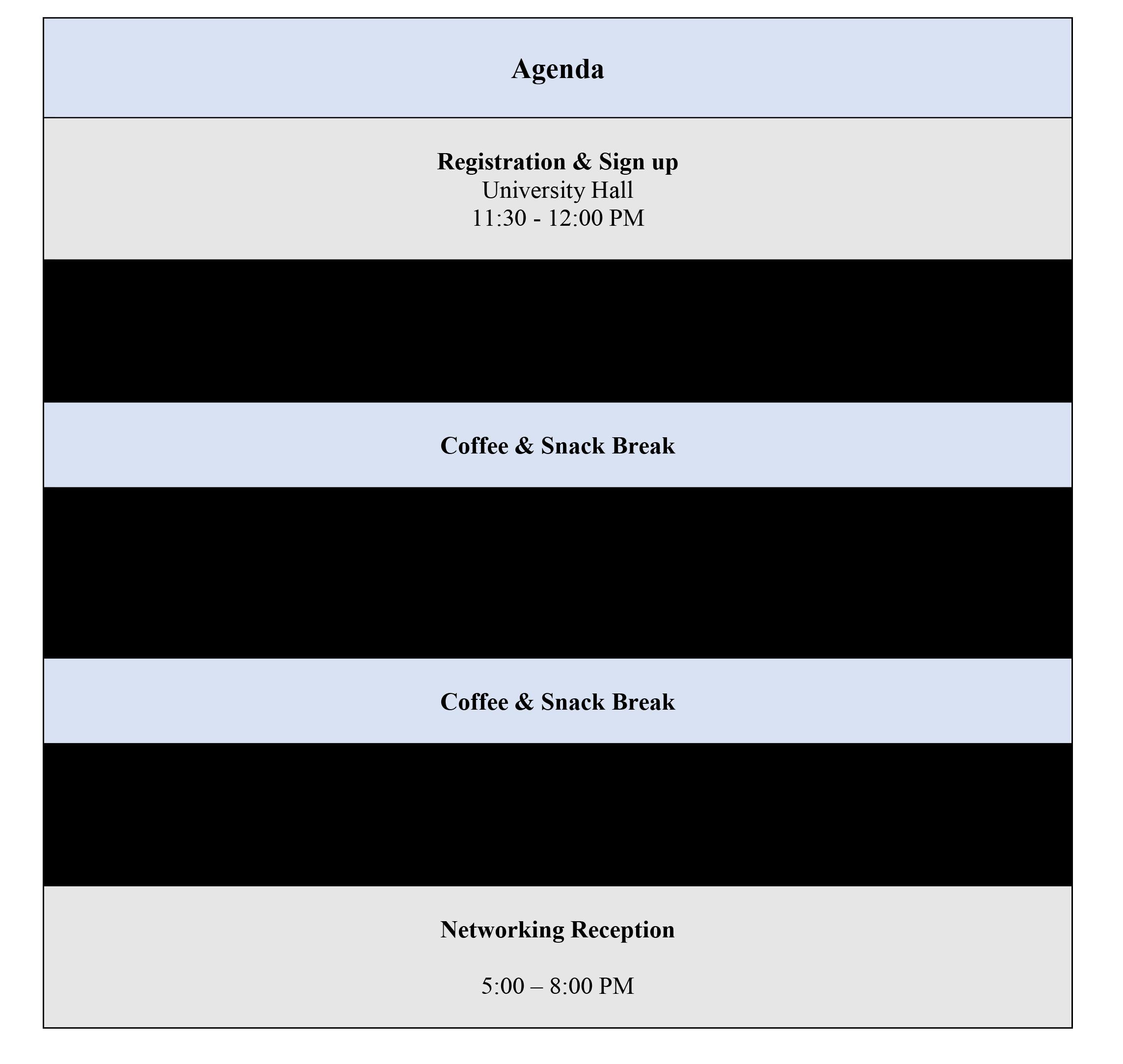 Fall 20118 Career Symposium Schedule