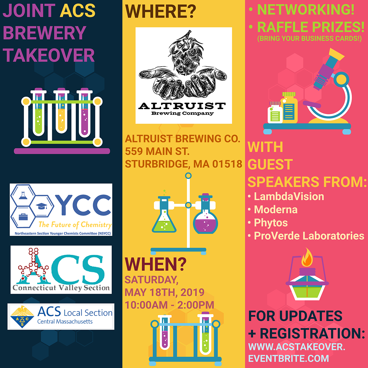 Joint mixer flier - Massachusetts and Connecticut Local Sections of the American Chemical Society