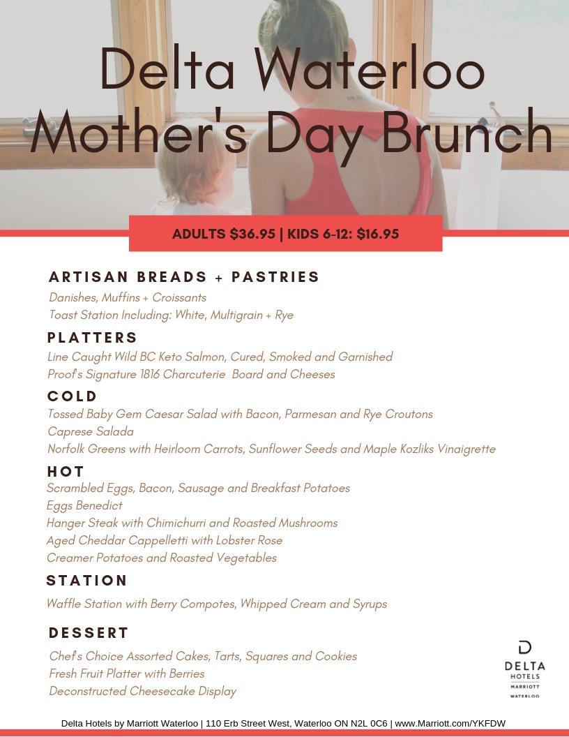 Mother's Day Brunch 2019 Menu