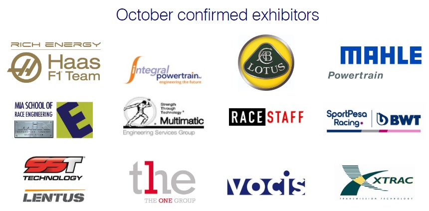 October confirmed exhibitors