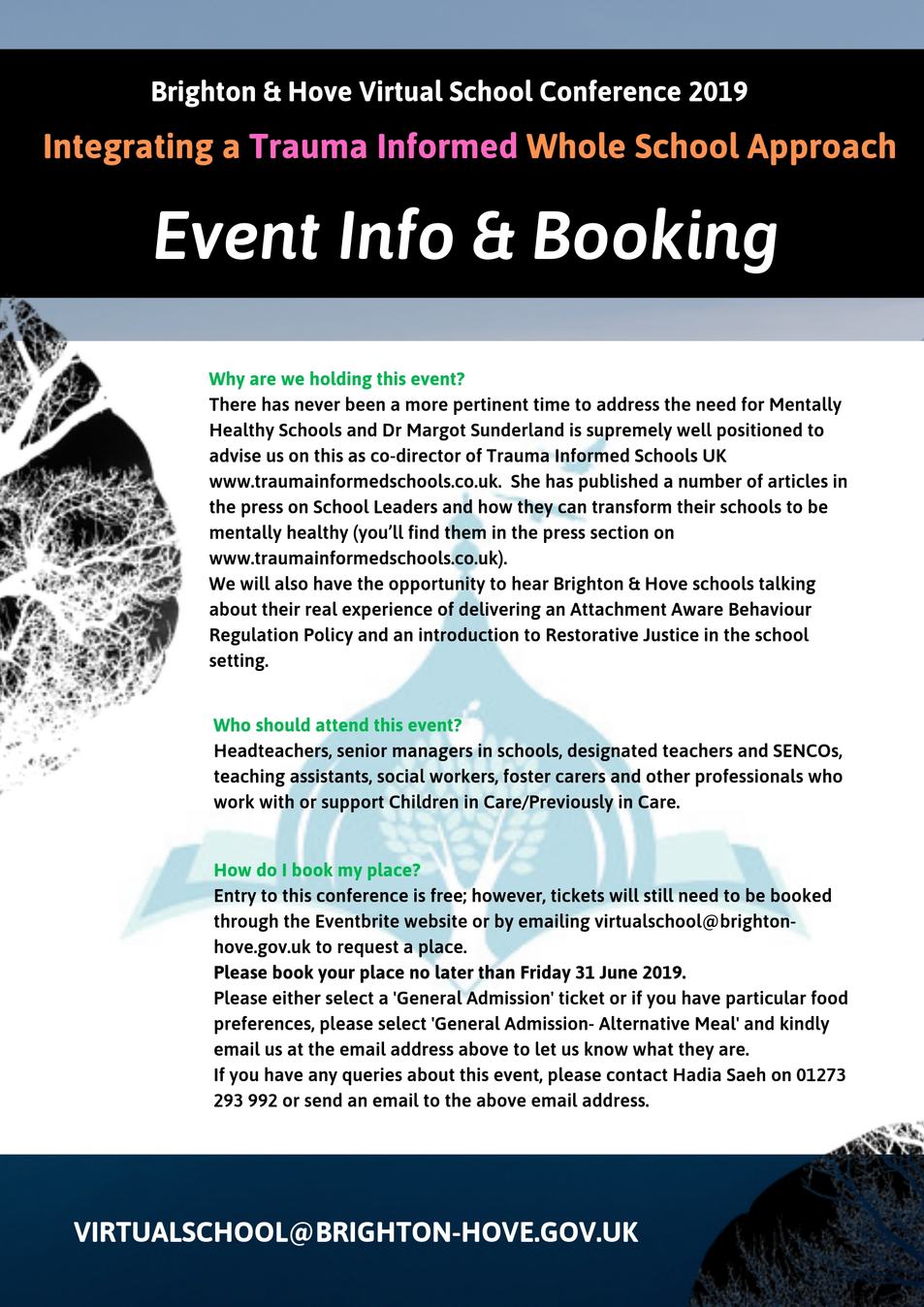 Virtual School Conference Info & Booking