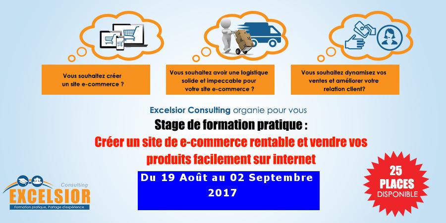 Affiche lancement de la formation en ecommerce