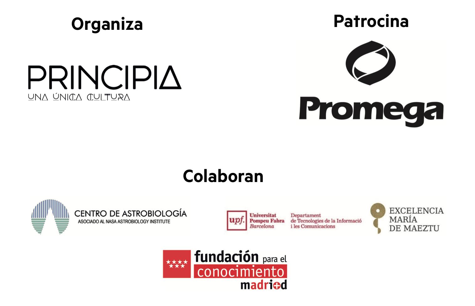 Organizadores, patrocinador y colaboradores del evento