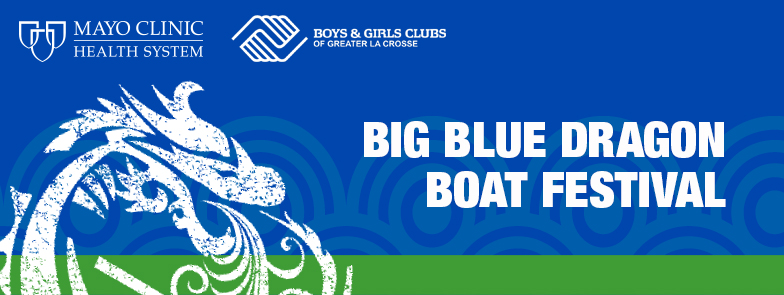 Big Blue Dragon Boat Festival Banner