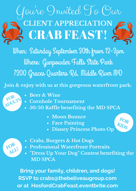 Zach Hosford Crab Feast Invite