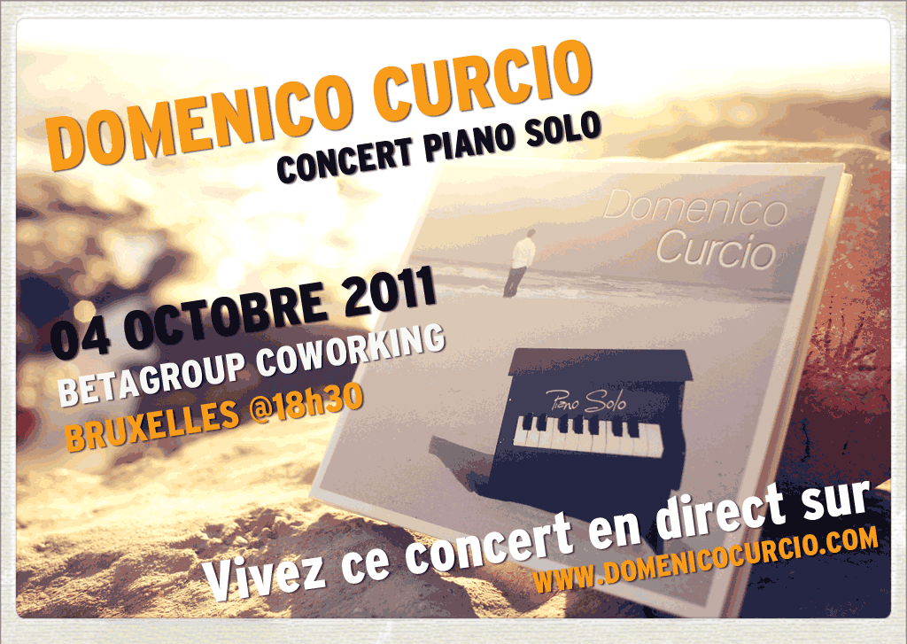 Domenico Curcio concert live at Betagroup Coworking Brussels