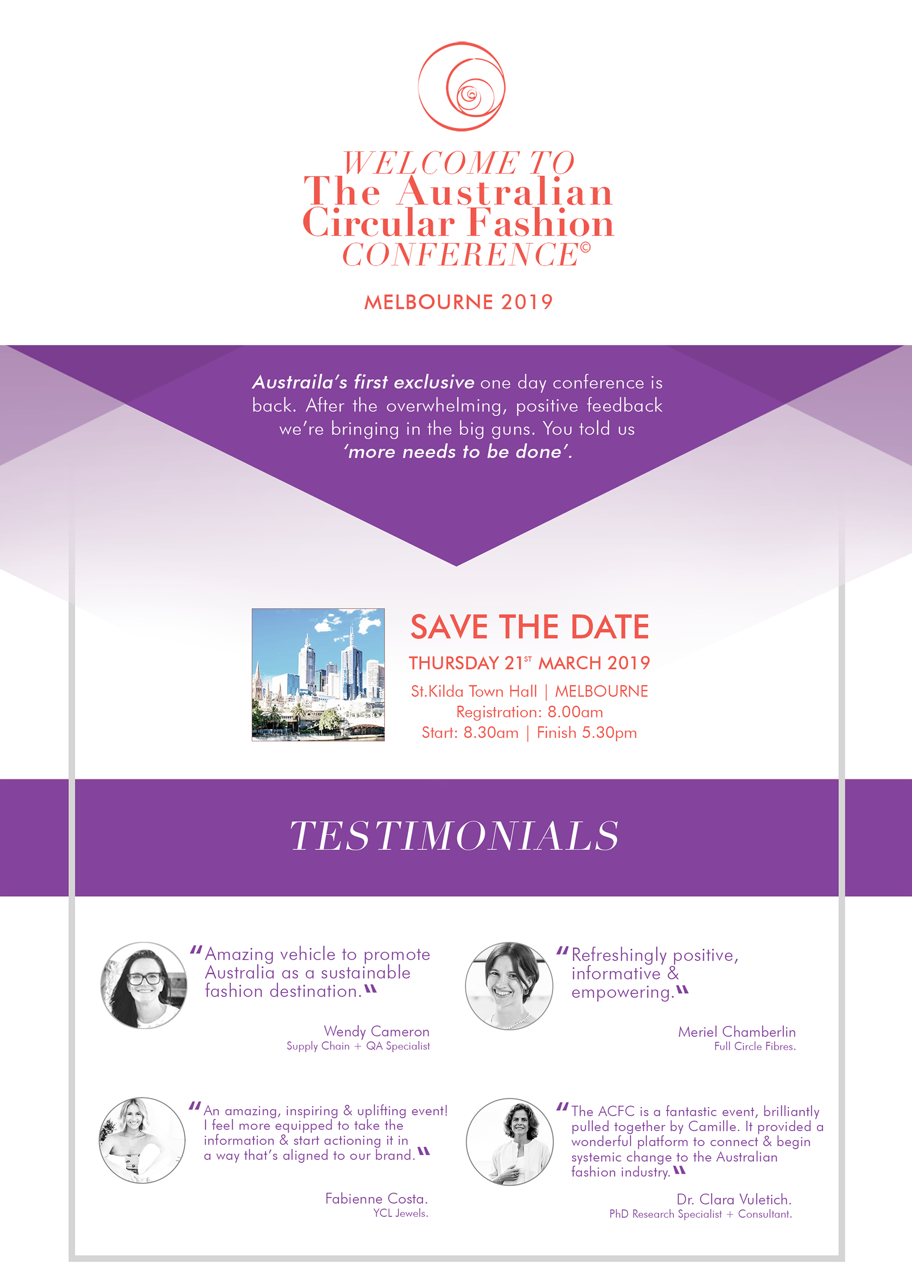 The Australian Circular Fashion Conference 2019