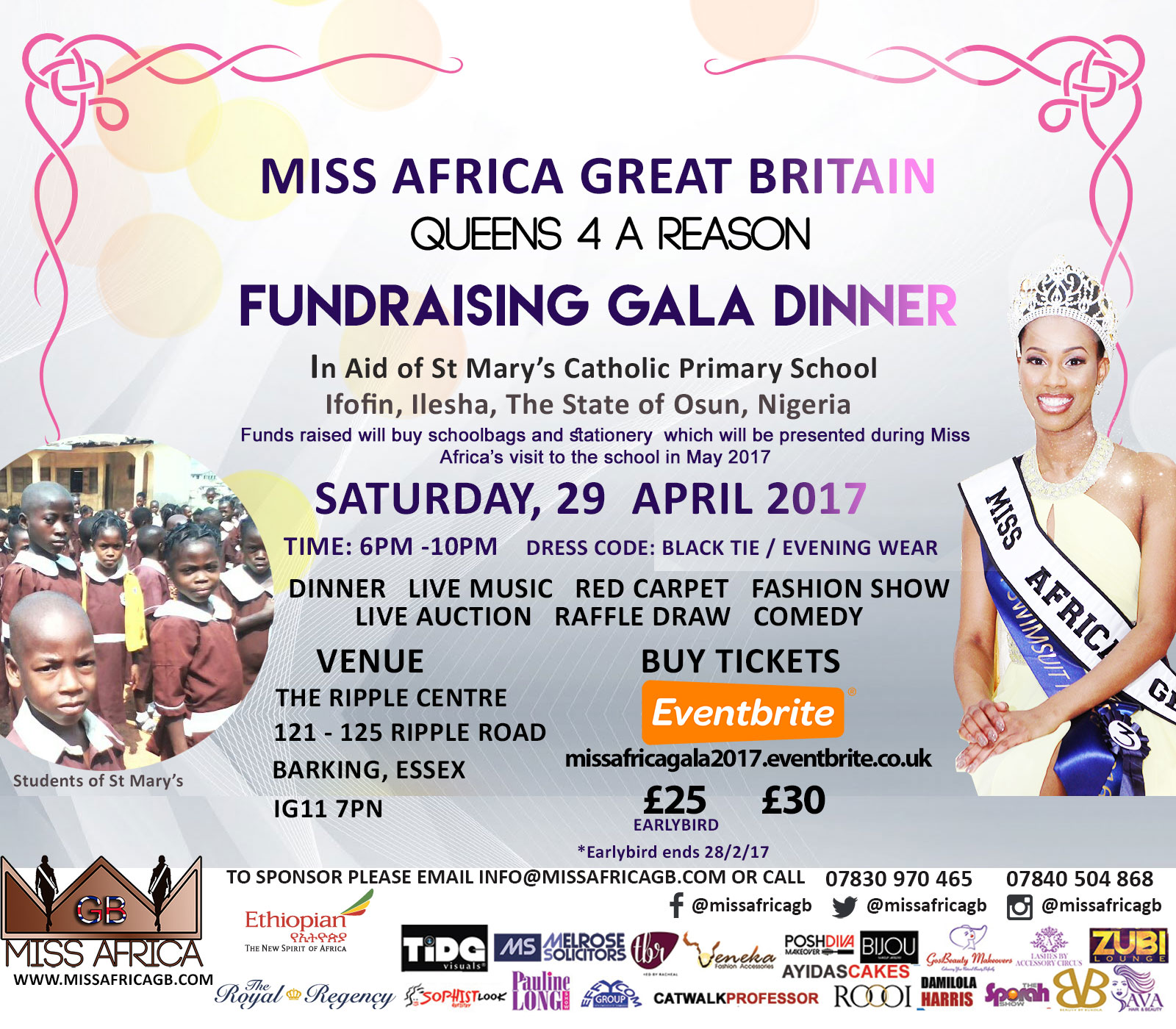 MISS AFRICA GREAT BRITAIN 2017 FUNDRAISER
