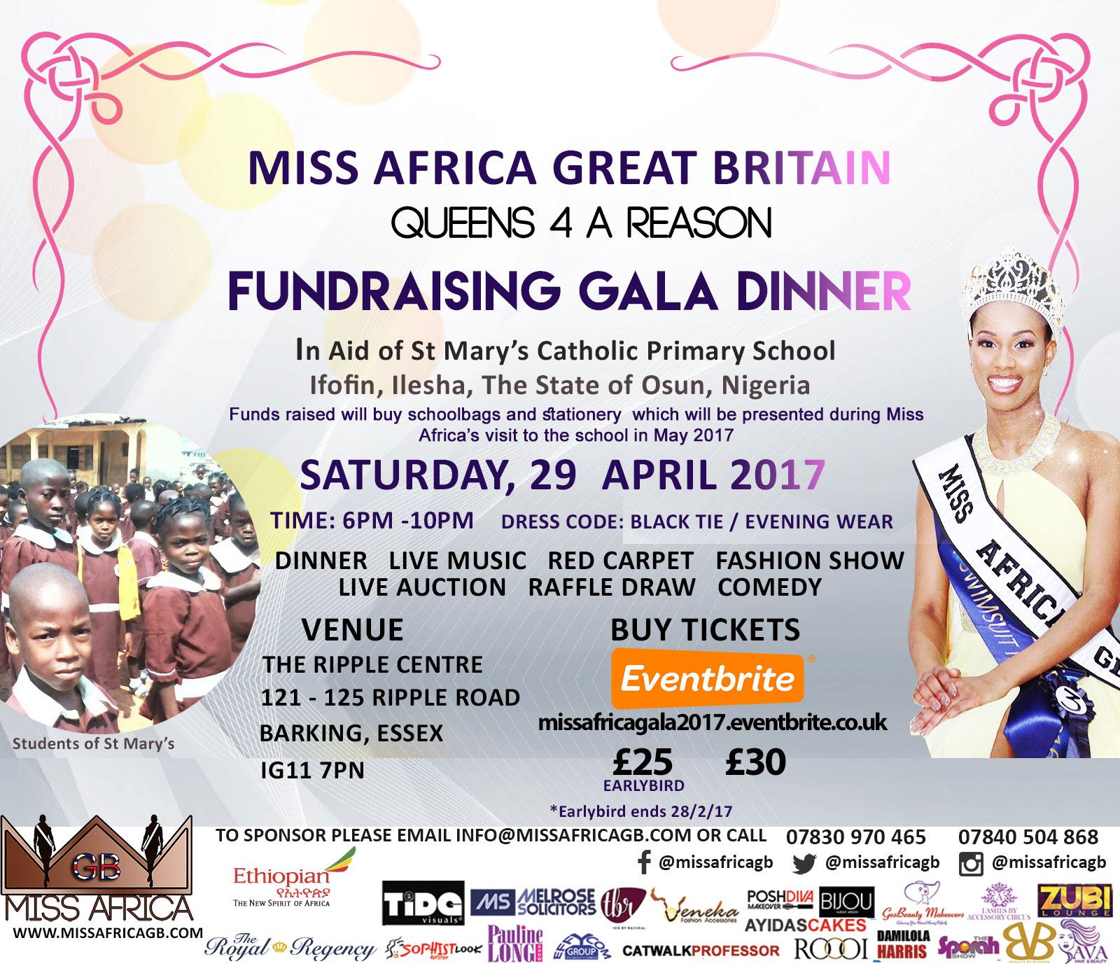 MISS AFRICA GREAT BRITAIN 2017 FUNDRAISER
