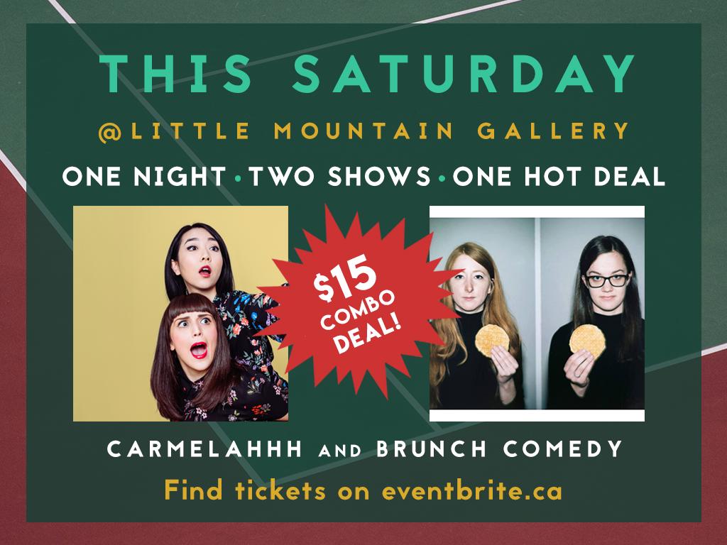 Carmelahhh and Brunch Comedy Combo Deal