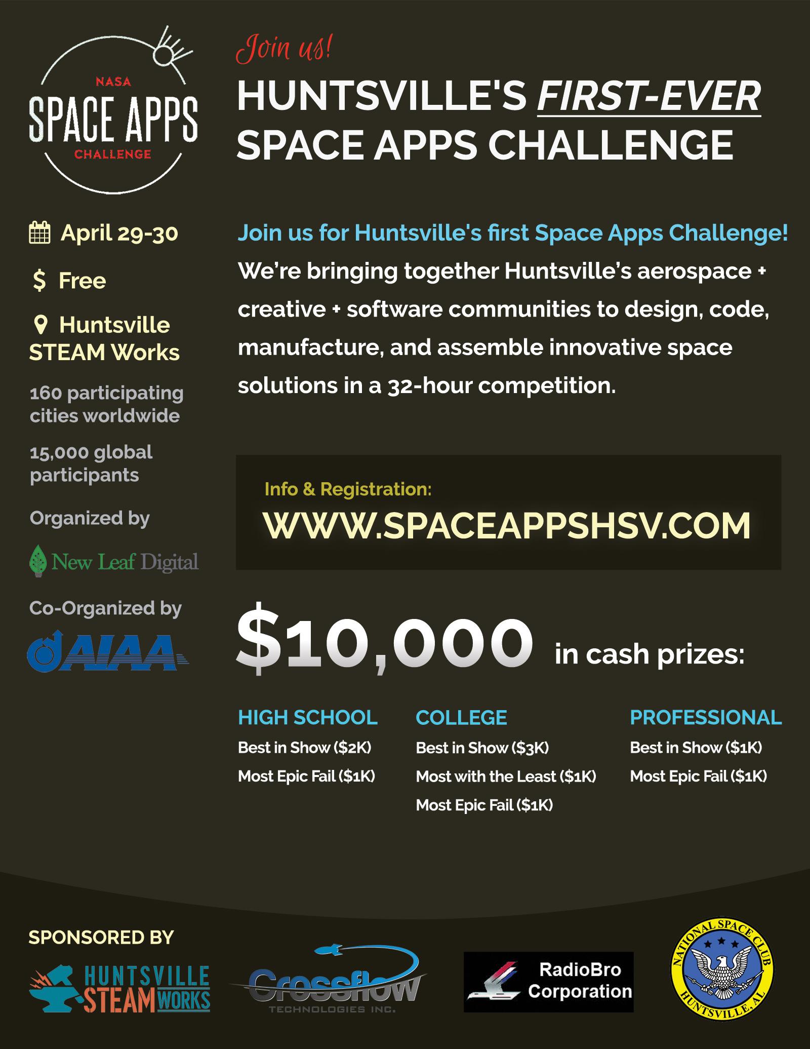 Space Apps Huntsville flyer