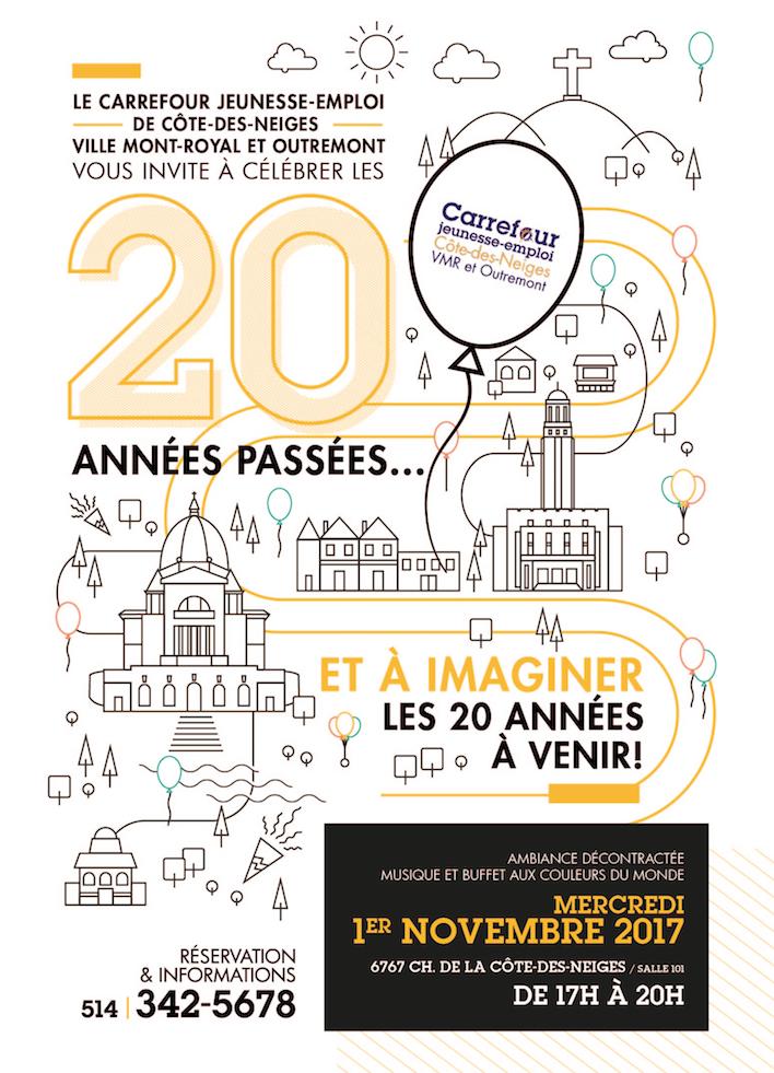 Invitation à célébrer les 20 ans du CJE CDN-VMR-O