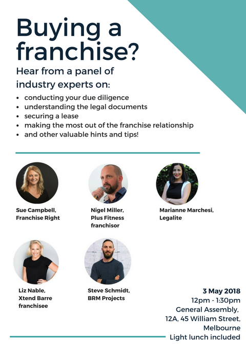 Buying a Franchise invitation poster