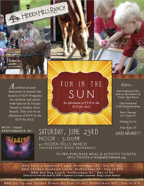 FUN in the SUN Event Flyer; June 23rd Noon-3:00pm
