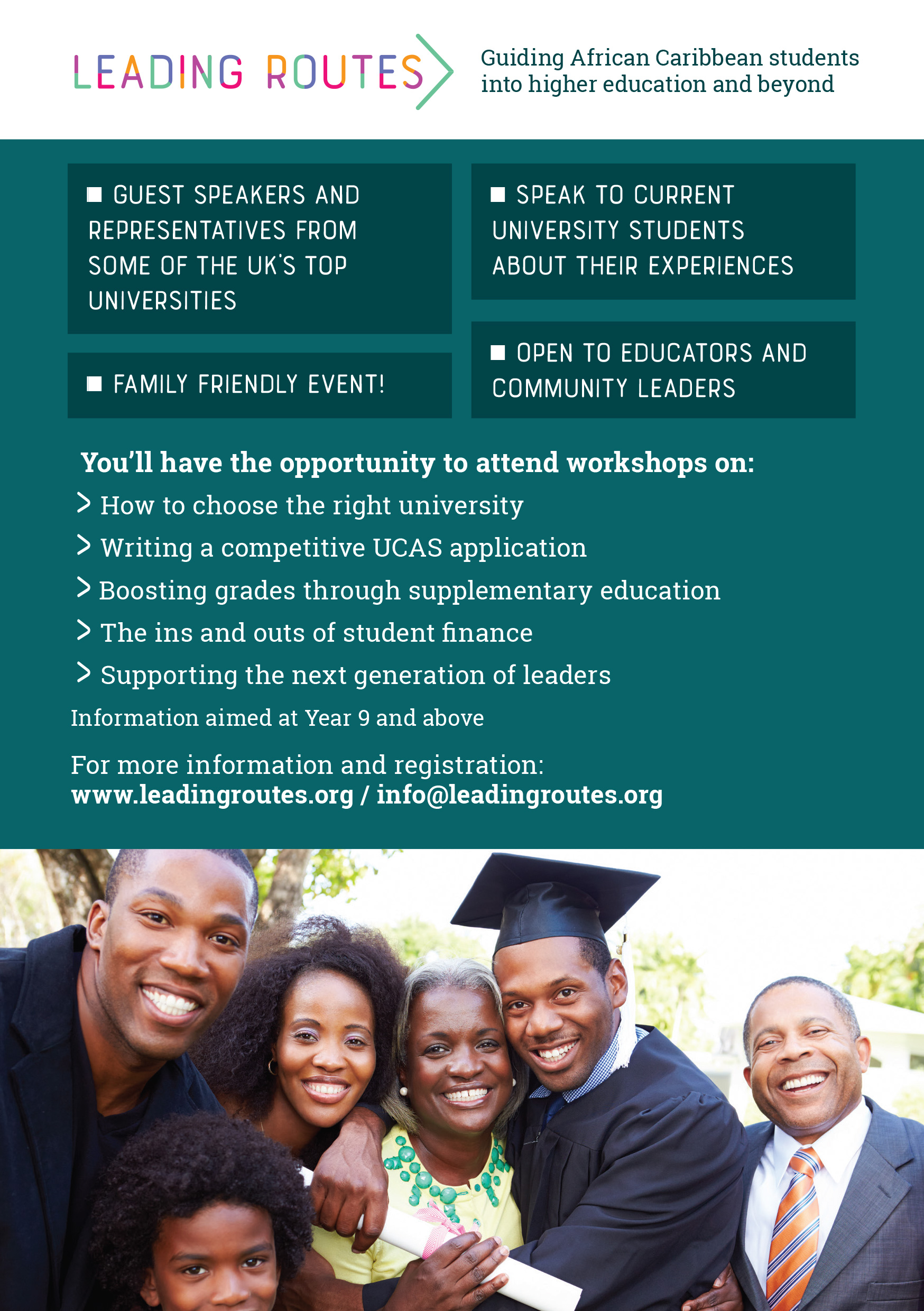 Paths to University Success - Parent Carer Event Back