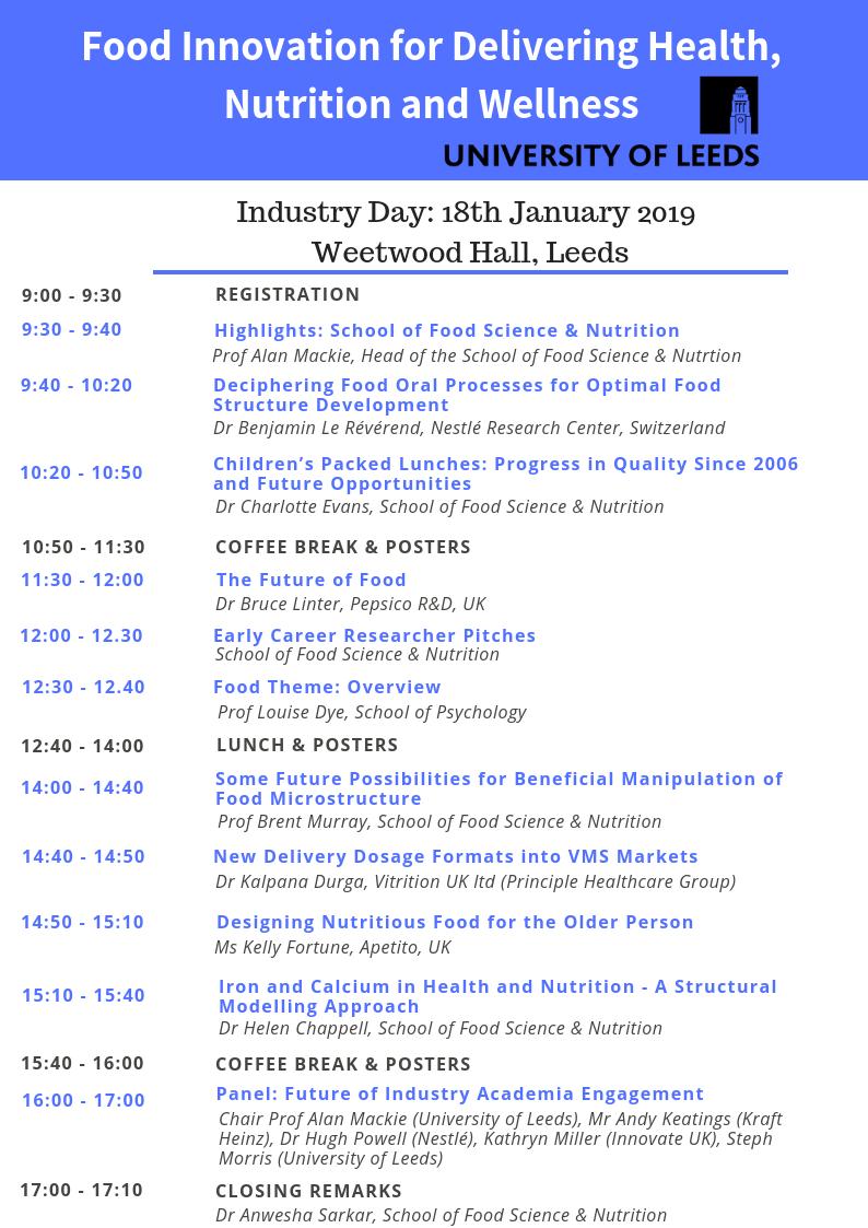 Industry Event Agenda