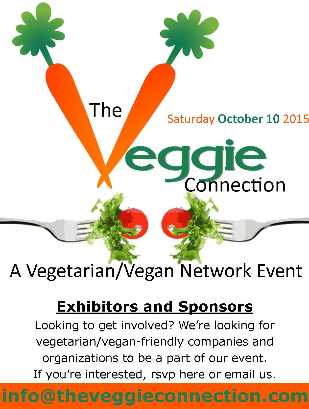 veggie connection Mark your calendars and get ready for a day of engaging speakers, delicious food, a vendor marketplace and fun for all ages.