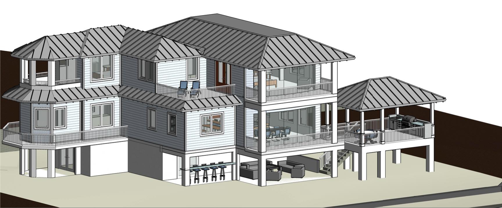 Casa Del Sol rendering - Back View