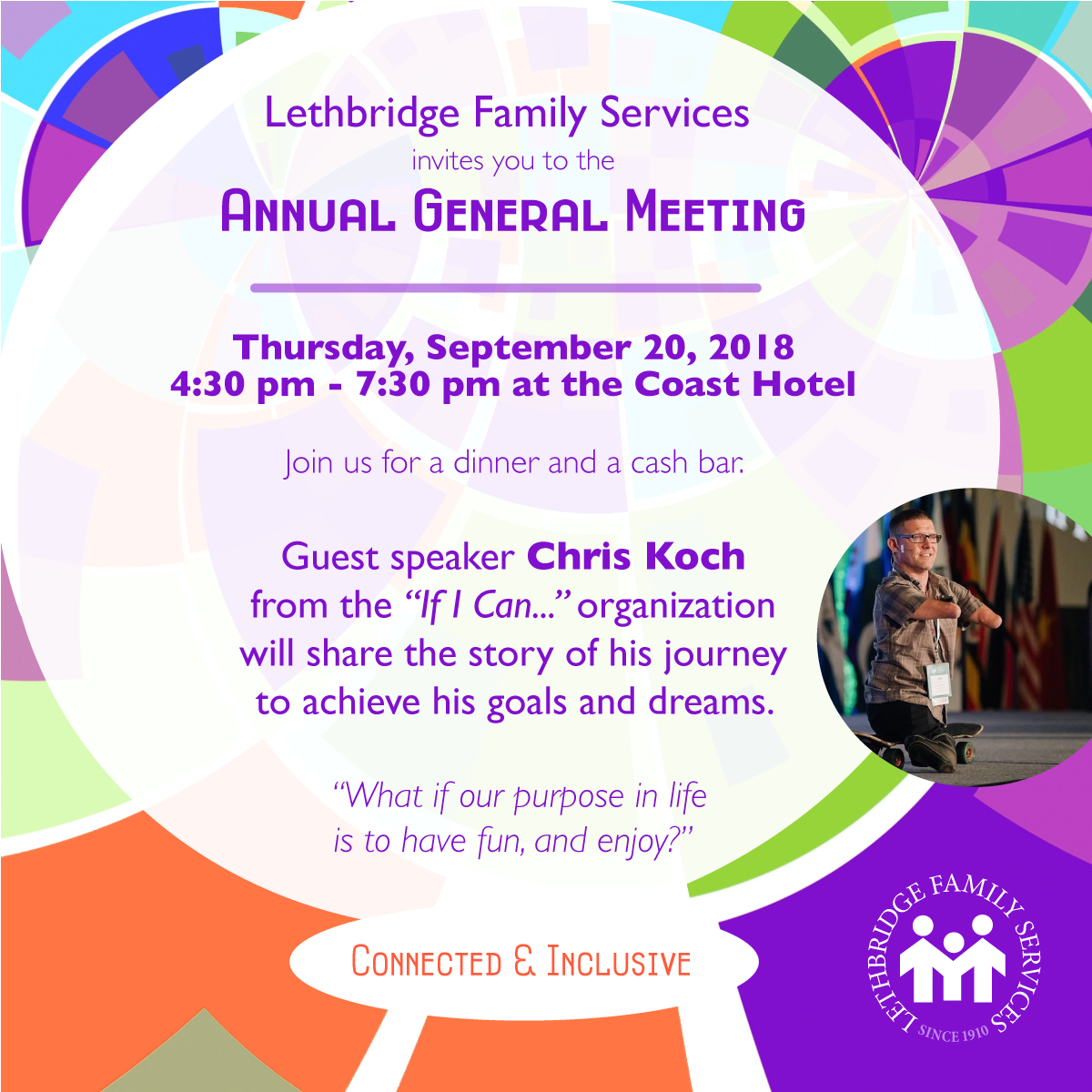 Invite to Lethbridge Family Services Annual General Meeting