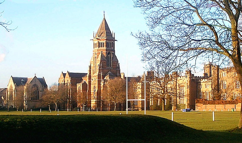 Rugby School image with legendary rugby pitches!