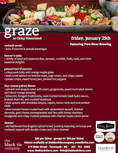 January Graze Dinner