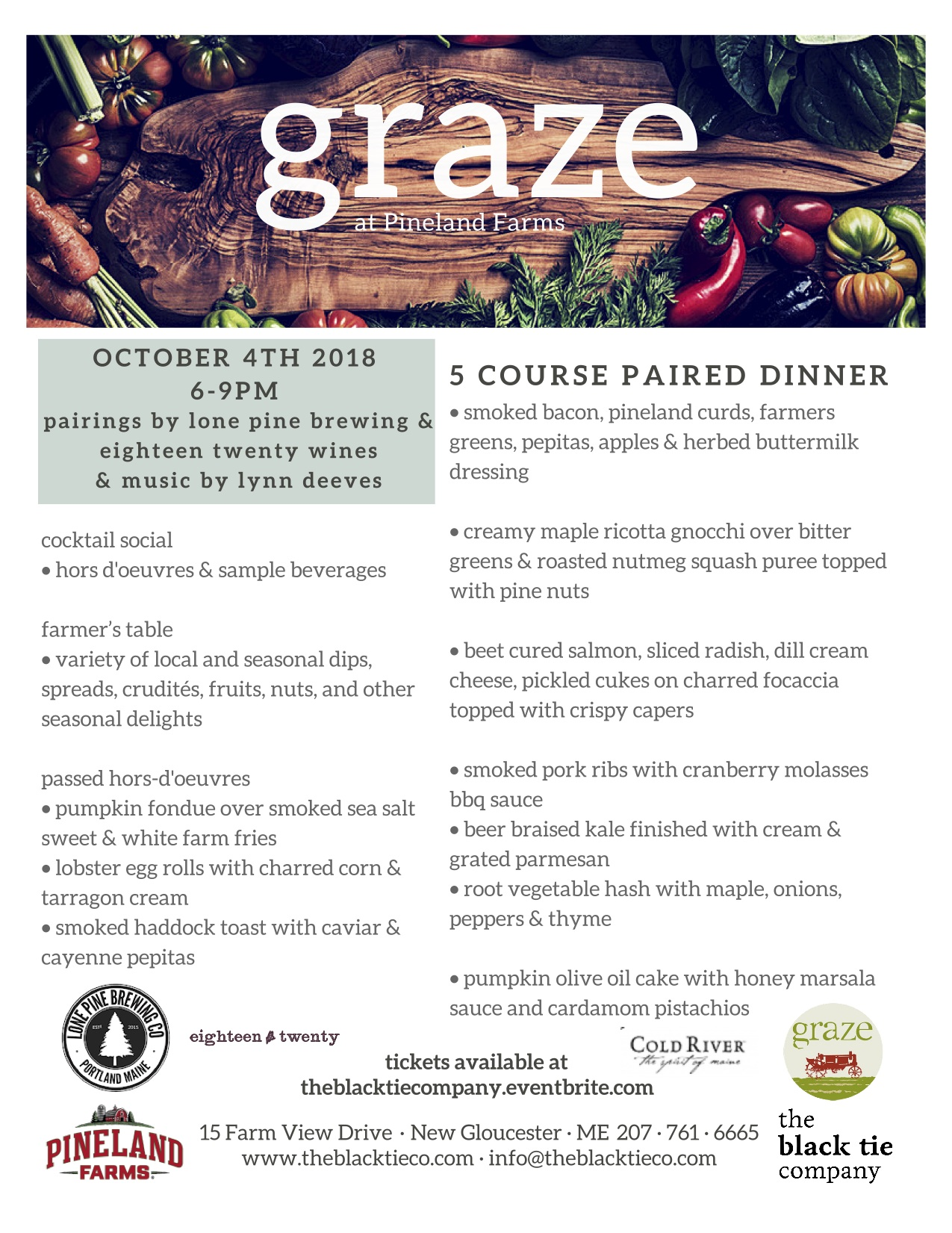 october graze menu