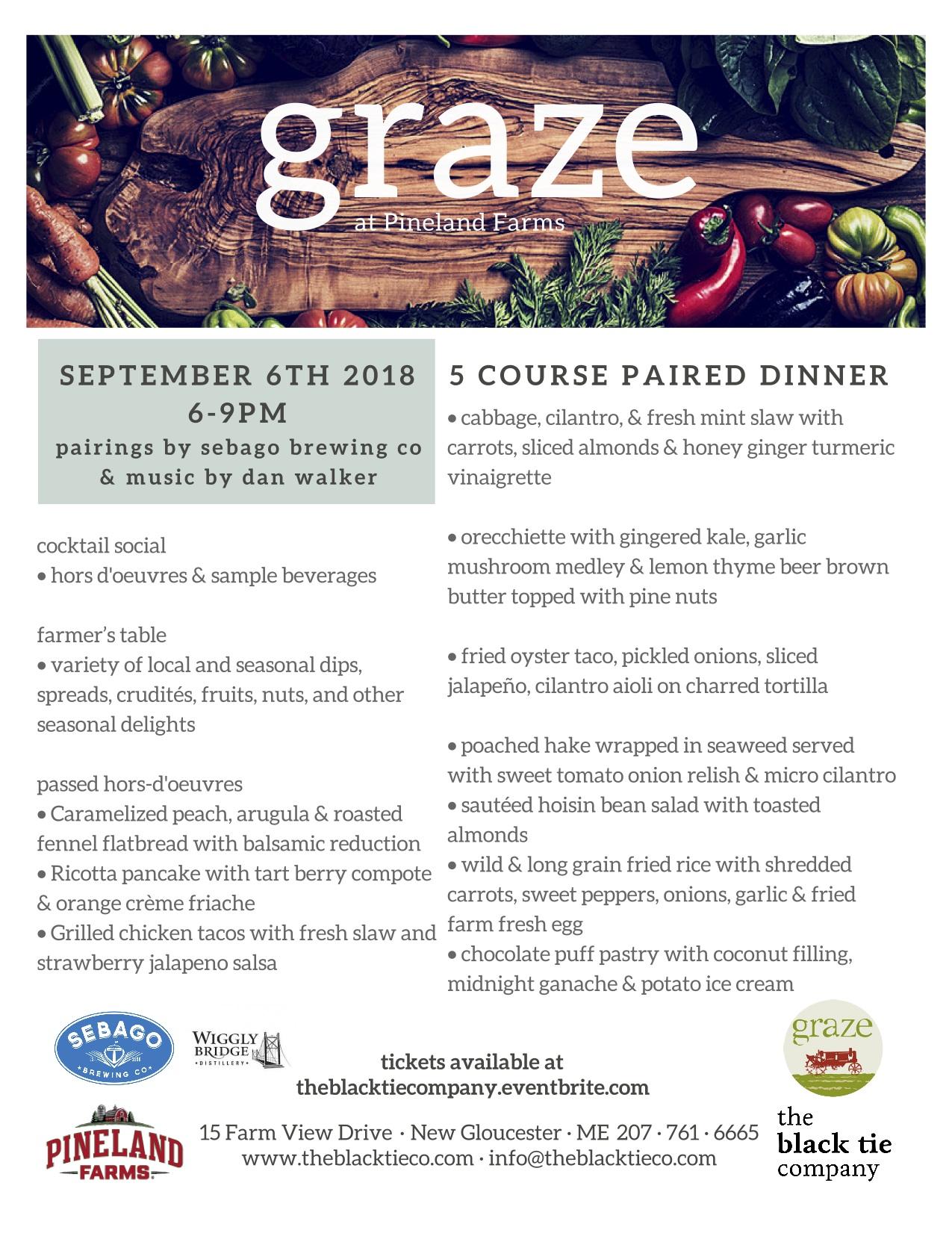 september graze menu