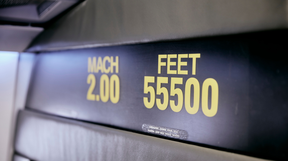 The height and speed of Concorde