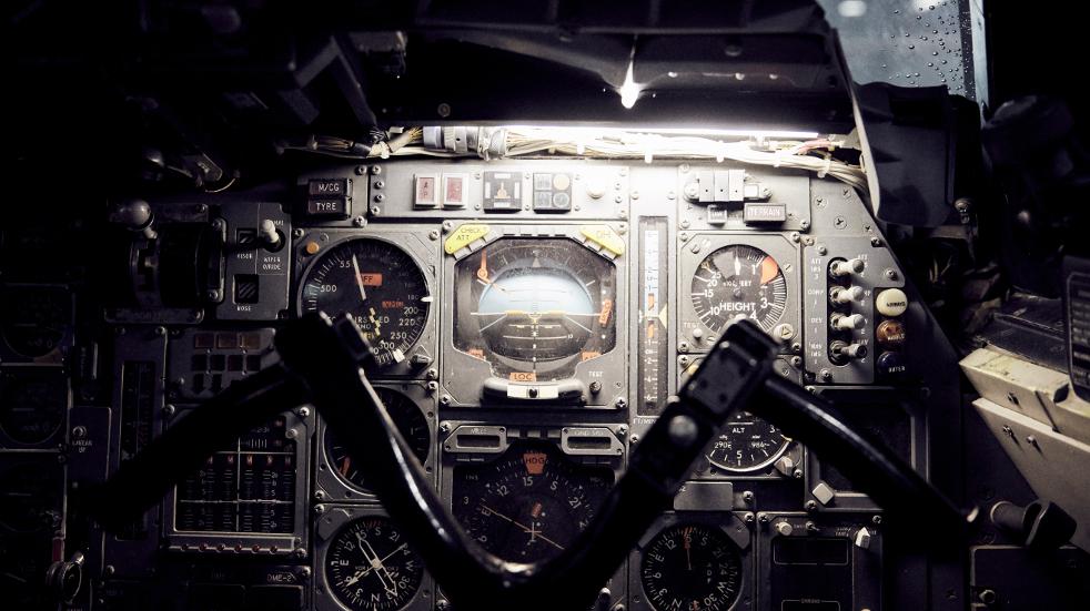 The pilot's yoke