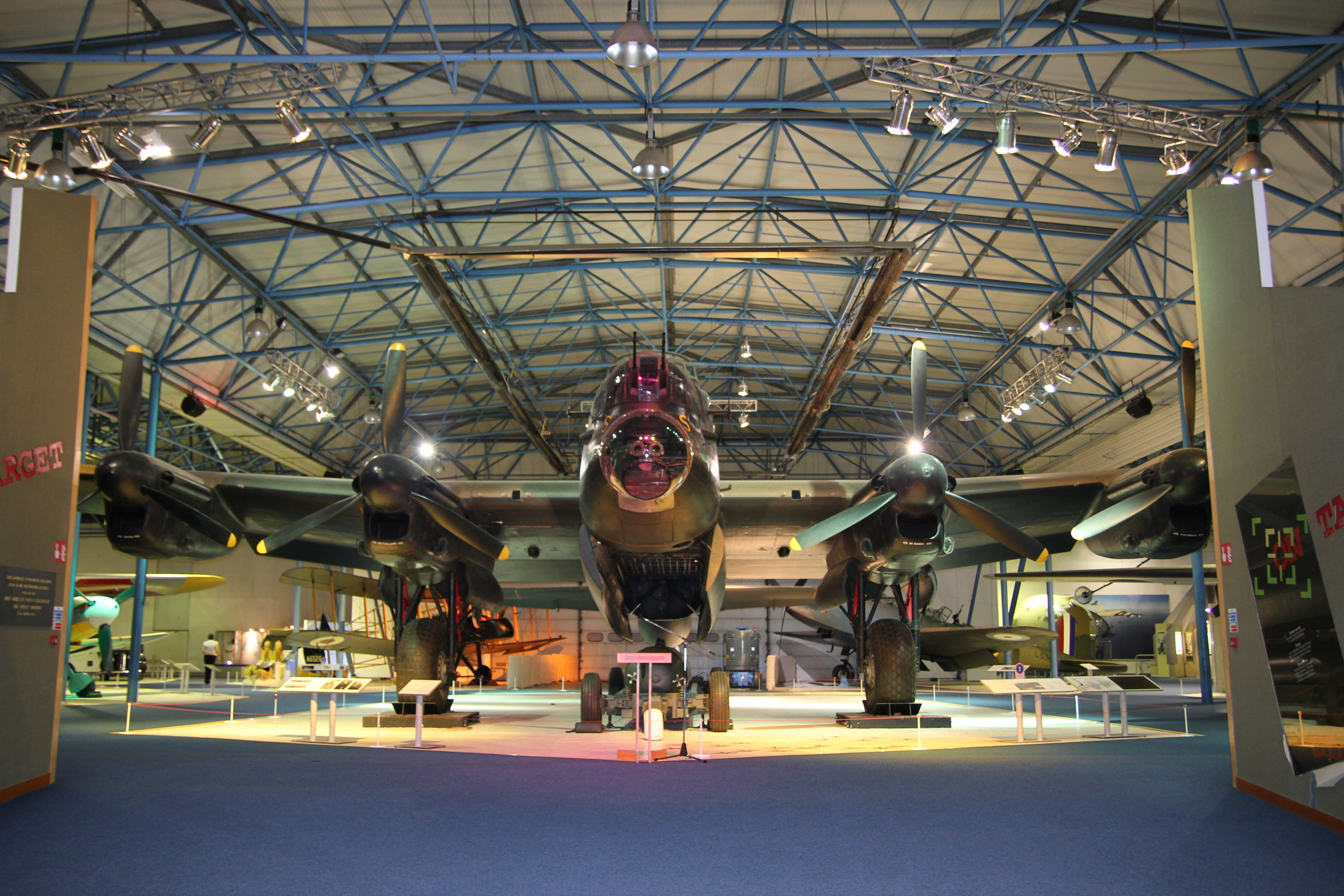 Drinks Reception under a Lancaster Bomber