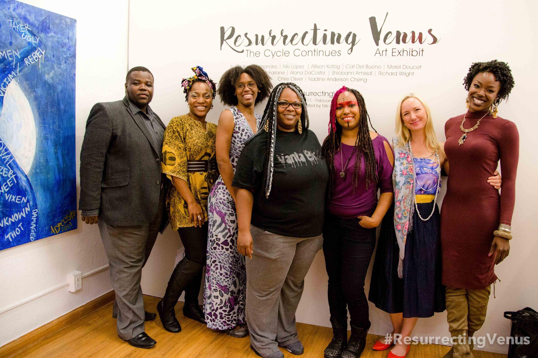 Exhibiting artists of Resurrecting Venus - curator: Niki Lopez