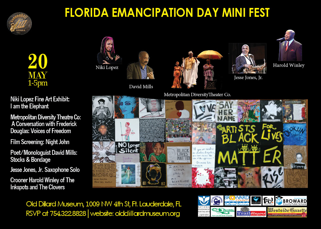 Niki Lopez and Old Dillard Museum presents: I Am The Elephant fine art exhibit during the Florida Emancipation Mini Fest