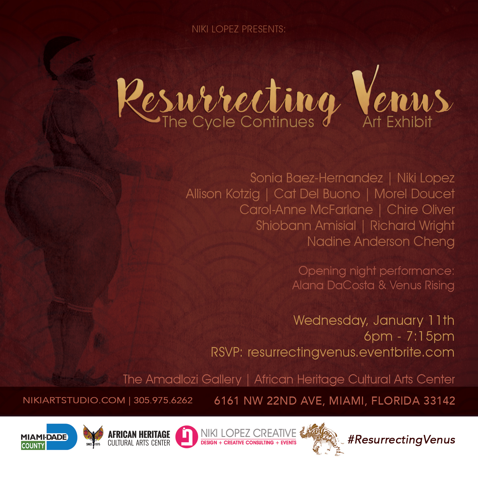 Resurrecting Venus: The Cycle Continues art exhibit - curator Niki Lopez