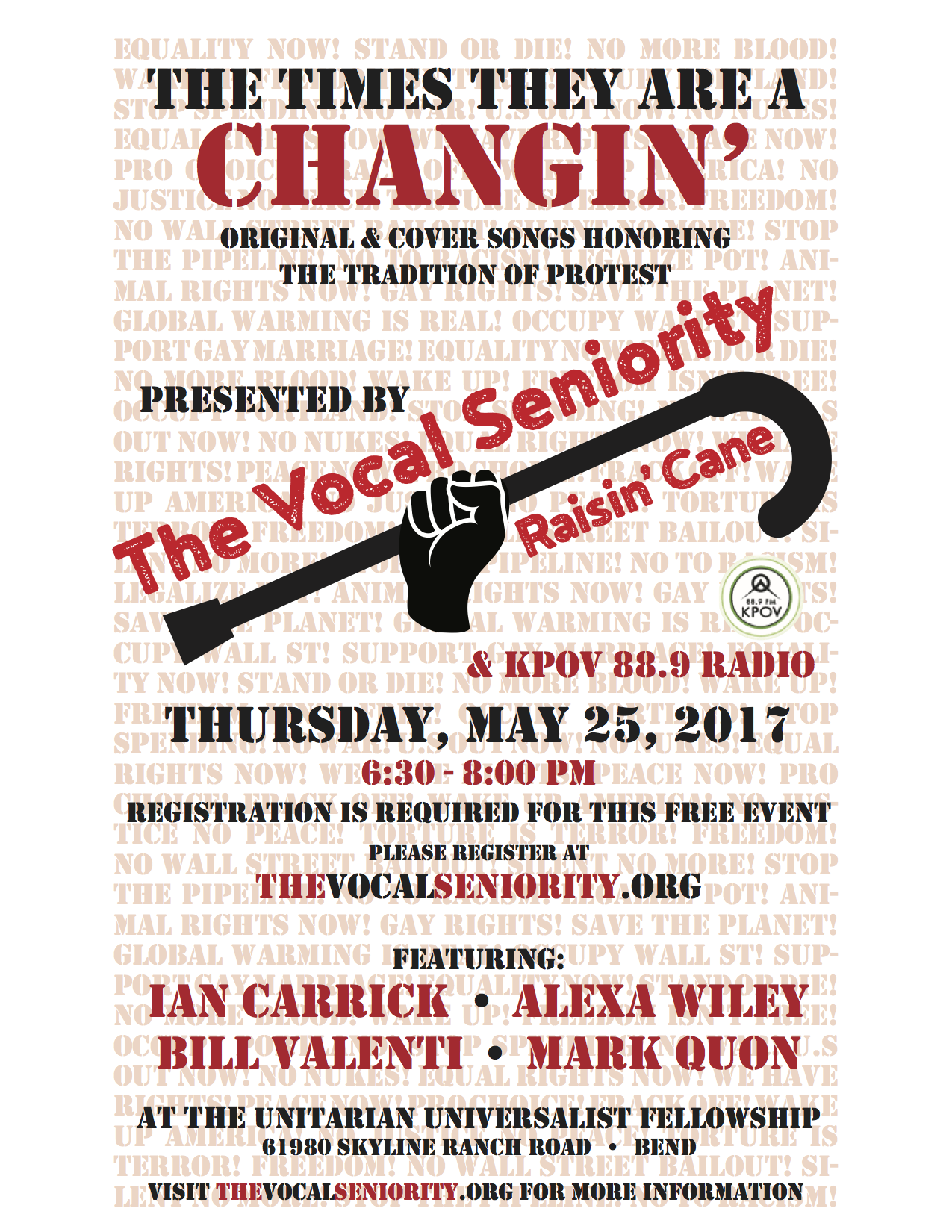 The Times They Are A Changin' poster