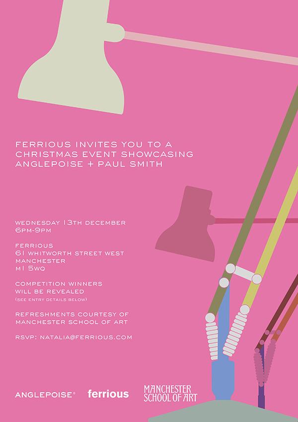Anglepoise + Paul Smith Invitation