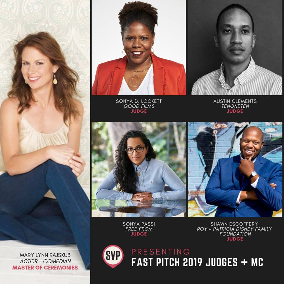 Images of Judges and MC for Fast Pitch 2019