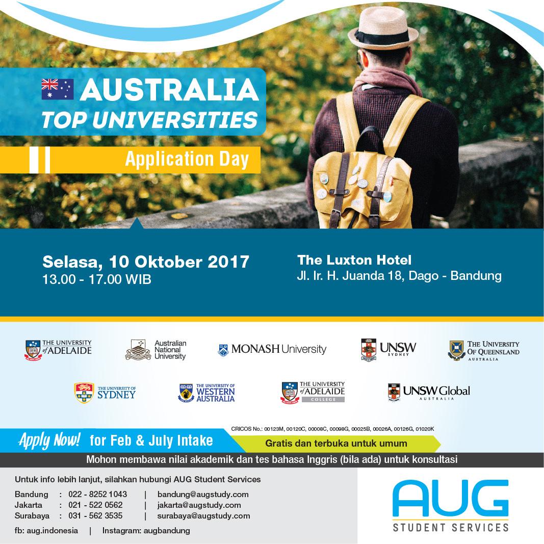Australia Top Uni October 2017