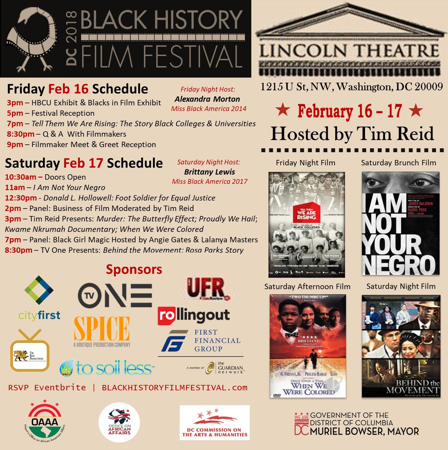 2018 DC Black History Film Festival Film Line Up Final