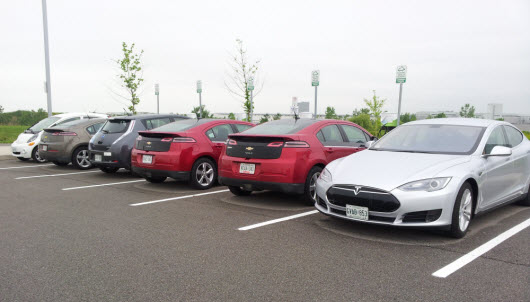 Guest EV Chargers in Use