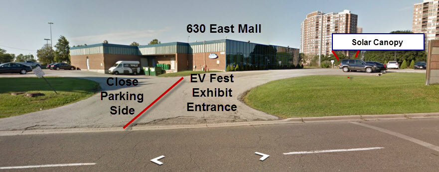 Google Street View Image of 630 the East Mall - Annotated