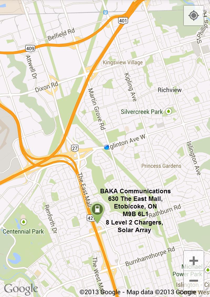 BAKA Communications - BAKA Mobile - PlugShare Map Listing
