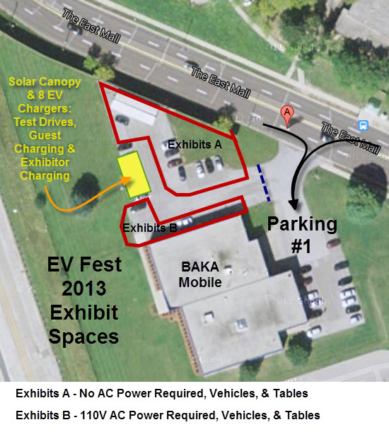 Google Satellite View of BAKA Mobile - Annotated for General Exhibit Space